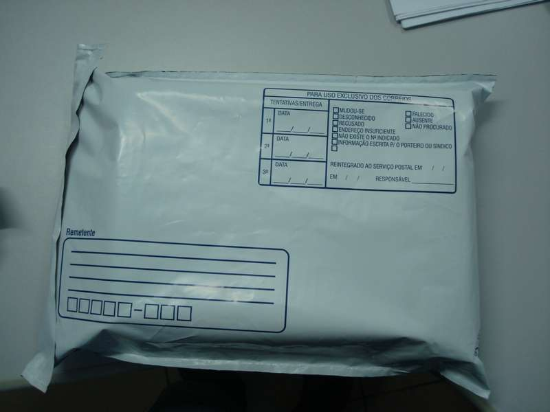 Envelope plástico lacre inviolável